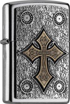 """Org.ZIPPO street cr. Plakette TT """"Gothic Cross"""" 2004752"""