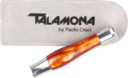 Pfeifenstopfer TALAMONA mit Dorn orange marmoriert/chrom
