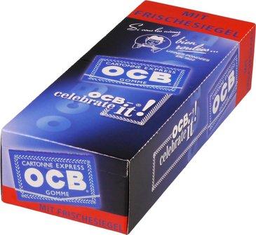 OCB BLAU 100 Zigtt.-Papier mit Gummi (je 25 Heftchen)