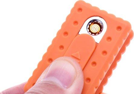 """CHAMP Spiral-Batterie-Anzünder """"Biskuit"""" m.Schlüsselanhänger"""