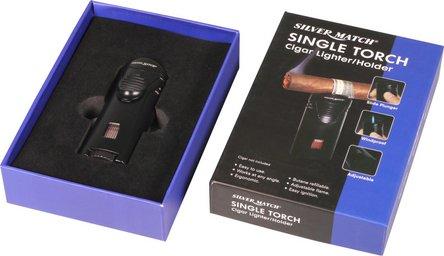 """SILVER MATCH Turbo-Cigarren-Feuerzeug """"Debden"""" mit"""