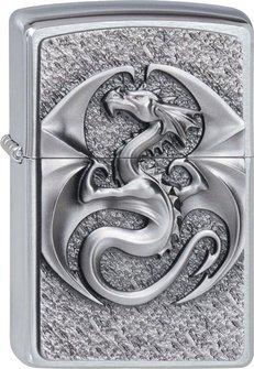 "Org.ZIPPO cr. geb. Plakette  ""Dragon 3D"" 2002545"