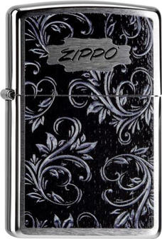 "Org.ZIPPO chrom gebürstet color ""Zippo Filigree"" 60000003"