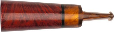 Cigarrenspitze Bruyère orange/black Acrylmundstück marm.16mm