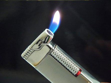 Pfeifenfeuerzeug PASSATORE chrom satin/chrom poliert Sz