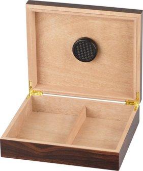 Humidor Walnut Dekor dunkel für ca. 20 Cigarren
