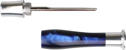 Pfeifenstopfer TALAMONA mit Dorn blau marmoriert/chrom