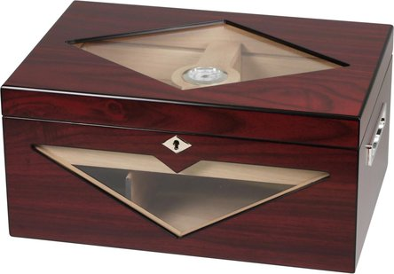Humidor Kirschbaumoptik matt für ca. 100 Cigarren