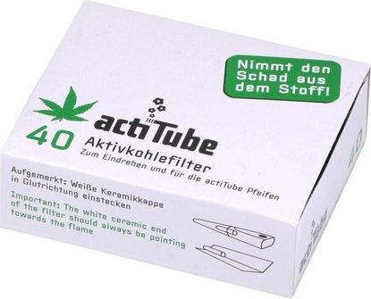 actiTube Aktivkohlefilter 9mm Inhalt 40 Filter