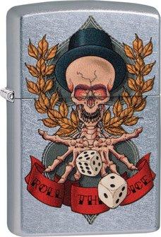 "Org.ZIPPO street chrom color ""Skeleton/Dice"" 60004572"