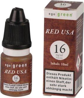 Liquid ego green RED USA Tobacco 16mg Nikotin 10ml