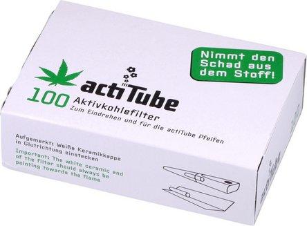 actiTube Aktivkohlefilter 9mm Inhalt 100 Filter