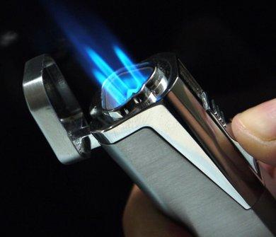 SKY Cigarrenfzg.3- Flammen schwarz mit Bohrer  6mm Ls