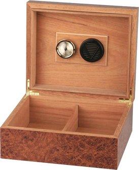Humidor Wurzelholzdekor für ca. 25 Cigarren