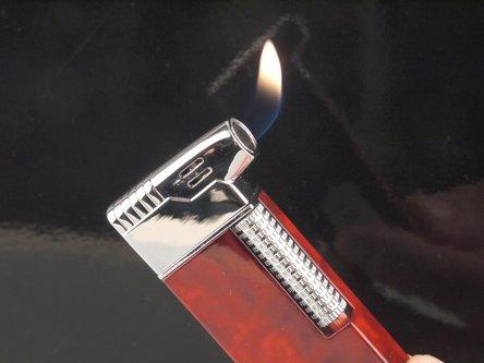 Pfeifenfeuerzeug PASSATORE braun marble/chrom poliert Sz
