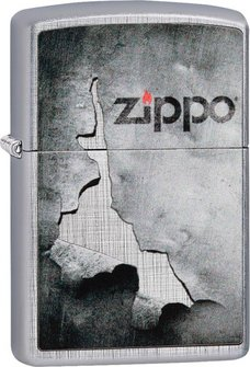 "Org.ZIPPO Linen Weave color ""Peeled Metal"" 60004576"
