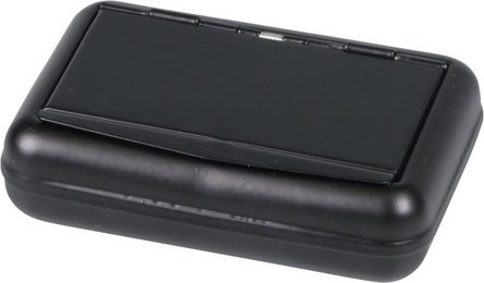 Tabakdose schwarz matt,Papierhalt.10x7cm