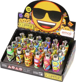 "Clipper Mehrweg-Feuerzeug Pop Cover ""Emoji 3""   Sz"