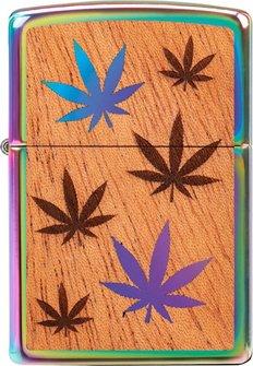 "Org.ZIPPO Rainbow""Mahogany Emblem Cannabis beids.""60004581"
