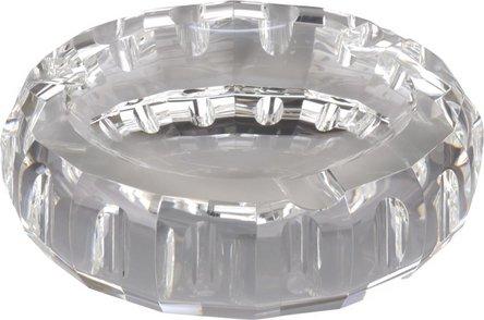 Cigarrenascher Kristallglas/rund  3 Ablagen
