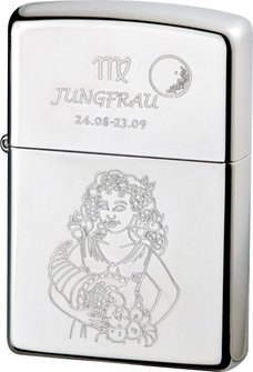 "Org.ZIPPO chrom poliert ""Jungfrau"" Ha"