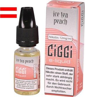 AT CIGGI Liquid Ice Tea Peach 12mg/ml Nikotin 10ml