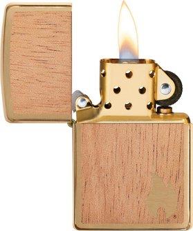 "Org.ZIPPO mess.geb""Mahogany Emblem Flame beidseitig""60004583"
