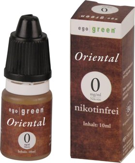 Liquid ego green Oriental Tobacco None 10ml