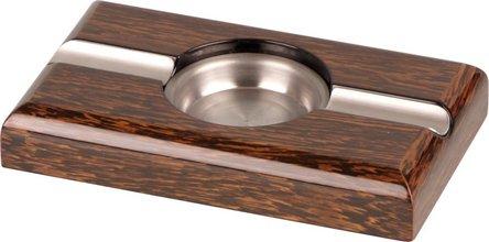 Cigarrenascher Ironwood-Design hi-gloss, mit 2 Ablagen