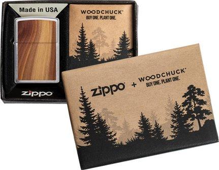 "Org.ZIPPO chrom geb. ""Cedar Emblem beidseitig"" 60004584"
