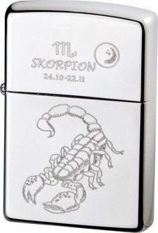 """Org.ZIPPO chrom poliert """"Skorpion"""" Ha"""