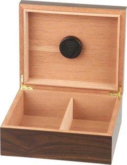 Humidor Walnut Dekor dunkel für ca. 25 Cigarren
