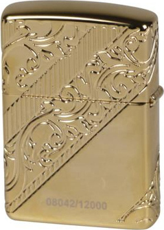 "Org.ZIPPO Gold Plated Armor Case ""Collectible 2018"" 60004005"