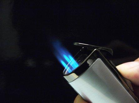"SKY 3-Flammen Jet-Fzg.""Cigar"" chr.satin mit Rundcutter 8mm"