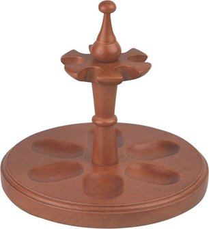 Pipe stand wood honey color for 6 pipes