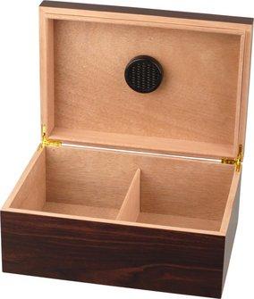 Humidor Walnut Dekor für ca. 50 Cigarren