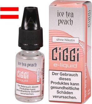 AT CIGGI Liquid Ice Tea Peach 0mg/ml Nikotin 10ml