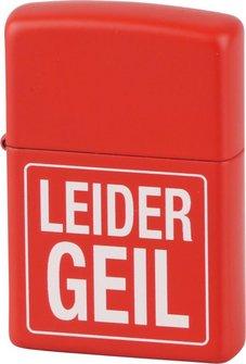 "Org.ZIPPO rot color ""Leider Geil"" Eg"