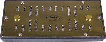 PASSATORE Polymerbefeuchter eckig goldin für ca.50-100 Cig.