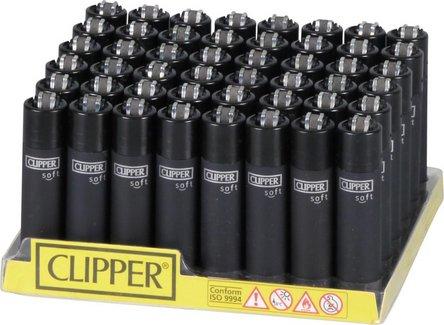 Clipper Mehrweg-Feuerzeug Soft Touch schwarz  Sz