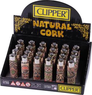 """Clipper Mehrweg-Feuerzeug """"Cork Cover Tattoo"""" sortiert"""