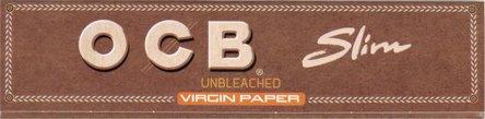 OCB Unbleached EXTRA LONG Slim Zigarettenpapier(braun) je 50