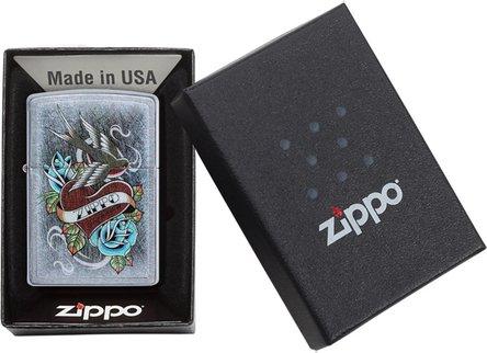 """Org.ZIPPO street chrom color """"Zippo Tattoo"""" 60004587"""