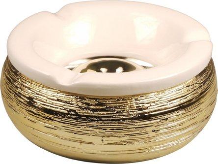 Windascher mit Struktur gold Ø 15 cm