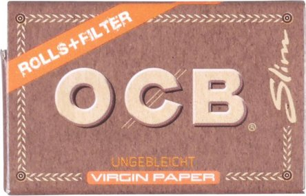 OCB Unbleached/Virgin Rolls 4m mit Tips  (je 16 Rollen)