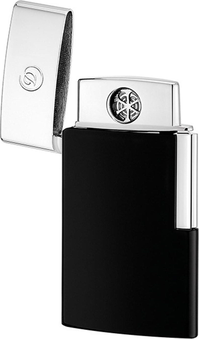 Akku 220 mAh Dupont Feuerzeug E-Anzünder Slim schwarz USB-Ladekabel S.T